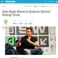 http://mashable.com/2013/05/24/musk-wants-electric-truck/ Elon Musk Wants to Build an Electric Pickup Truck | #Indiegogo #fundraising http://igg.me/at/tn5/