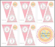 Pink Celebrate Banner - Free Party Printables | Peonies and Poppyseeds