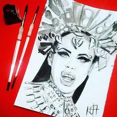 Queen Akasha  via @kim_a_tron \