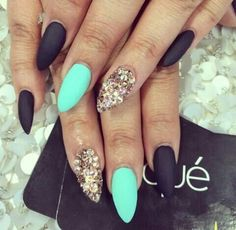 Teal Matte Black and Gold
