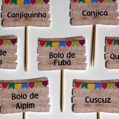 Plaquinhas para Comidas de Festa Junina Party Decoration, Birthday Decorations, 30th Party, Rio Grande Do Norte, Mexican Party, Best Part Of Me, Twinkle Twinkle, Tic Tac Toe, Diy And Crafts