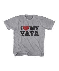 Loving this Gray Heather 'I Love My Yaya' Tee - Toddler & Kids on #zulily! #zulilyfinds