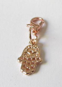 Charms - Charms Anhänger rosegold Hand Fatima - ein Designerstück von soschoen bei DaWanda