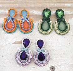 Paula Ordovás, Peacock Wedding, Jewerly, Beaded Necklace, Handmade, Colors, Box, Fashion, Ear Rings