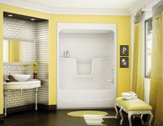 MAAX Studio 1-piece tub shower including roof cap. Bath Shower ...