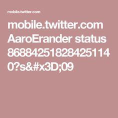 mobile.twitter.com AaroErander status 868842518284251140?s=09