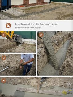 Das Fundament einer Gartenmauer ist entscheidend für ihre Stabilität. Die Anleitung zeigt, wie man für die Gartenmauer ein Streifenfundament selber machen kann.