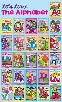 Let's Learn the Alphabet Super Set!  Single Sounds Phonics Sound Letter of the Week $