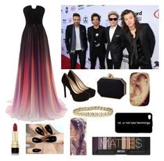 """Red Carpet With the Boys"" by zayn-liam-niall-louis-harry ❤ liked on Polyvore featuring Jessica Simpson, Ellen Hunter and Dolce&Gabbana"
