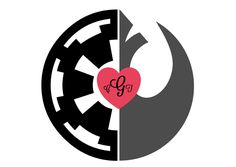 Rebel Empire star wars wedding logo
