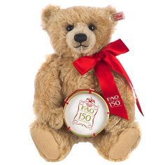 FAO Schwarz Limited Edition 12 inch 150th Anniversary Bear with Drum - Brown