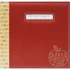 """School Memories Scrapbook 12""""x12"""" - Red Apple - Click to enlarge"""