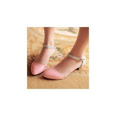 Kitten Heel Mary Jane Sandals ($32) found on Polyvore  So feminine yet modern! Love these!