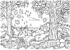 first day of fall coloring page Fall Leaves Coloring Pages, Forest Coloring Pages, Fall Coloring Sheets, Leaf Coloring Page, Pumpkin Coloring Pages, Coloring Pages For Grown Ups, Farm Animal Coloring Pages, Abstract Coloring Pages, Free Adult Coloring Pages