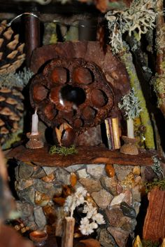 Detailed Fairy Fireplace by MyFairyHome on Etsy Fairy Furniture, Fairy Houses, Wood Watch, Bird, Detail, Handmade Gifts, Outdoor Decor, Etsy, Vintage