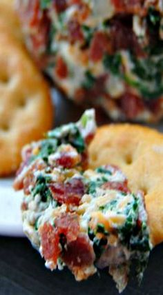 Bacon and Spinach Cheese Ball