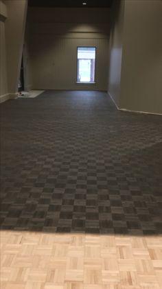 Classic Gray And Ebony Parquet Floors Ga Custom Floor