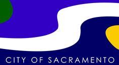 Flag of Sacramento, California.