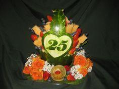 647-271-7971 Food Art, Bing Images, Anniversary, Fruit Trays, Birthday, Cake, Creative, Desserts, Fruit Ideas