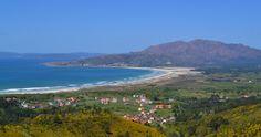 Vistas a la playa de Carnota desde la Senda Verde