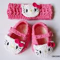 Hello Kitty Shoes and Headband Crochet Patterns FREE