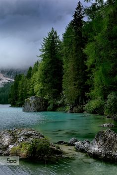 a green lake in the Dolomites by Marcello Machelli on 500px