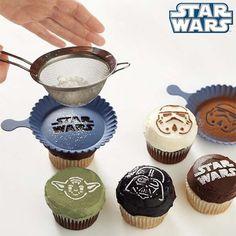 The Star Wars Cupcake Stencils Make Creating Space-Themed Treats Easy #geek trendhunter.com