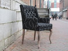 nice chair in a nice old street in Roermond