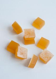 Natural Fruit Gummies Recipe     Hello Glow - Ginger, Lemon Gummies ----------------------------- 6 Tbsp gelatin powder ⅔ Cup  lemon juice 6 Tbsp honey 1-2 Tsp freshly grated ginger
