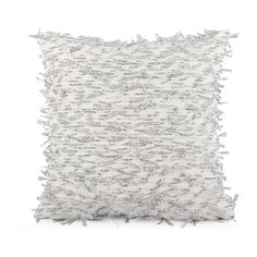 Black and White Word Decorative Pillow Cover 18x18 20x20