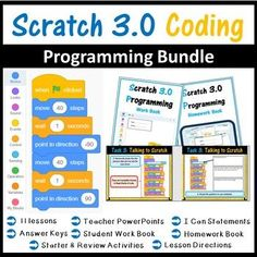 These Scratch 3.0 lessons are not just step by step tutorials, but cover programming concepts in details such as IF statements, loops etc.... Questions in the worksheet also expect students to look at their created scratch blocks and explain how and why they work as well as how and why they can be mod... Gcse Computer Science, Middle School Technology, Teaching Science, Teaching Resources, Teaching Ideas, Coding Software, Teaching Programs, I Can Statements, Coding For Kids