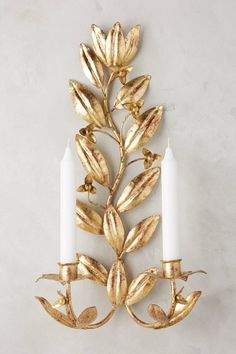 Clarisa Candle Sconce | Pinned by topista.com