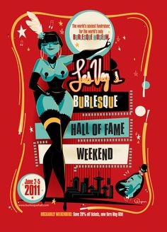 BrandonRagnar - Poster for the Burlesque Hall Of Fame in Las Vegas.
