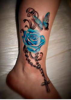 Rosery butterfly tattoo