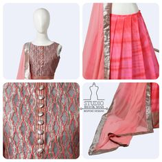 Intricate Cut work Choli & Chiffon Pleated Lehenga..