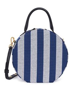 d3323177d82 Circle Striped Canvas Crossbody Bag by Mansur Gavriel at Neiman Marcus