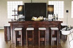 Great bar for a rustic wedding! Wine Wedding Wednesday – Dutch Still Life Inspired Dinner – ONEHOPE Weddings