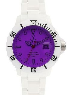 White and Purple Toy Watch