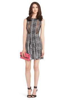 Ida Printed Silk Dress