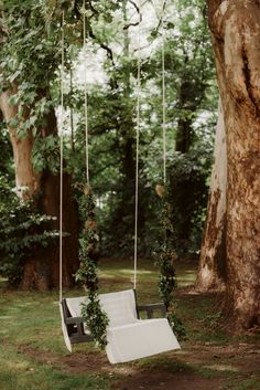 Greenery and burgundy florals decor for wedding swing at destination wedding in Austria Photo Wedding Swing, Deer Wedding, Wedding Stage, Garden Wedding, Boho Wedding, Destination Wedding Decor, Summer Wedding Decorations, Wedding Ceremony Backdrop, Greenery