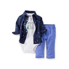 Carter's Baby Boys' Captain of the Sea 3 Pc. Bodysuit & Pant Set (Newborn) Carter's http://www.amazon.com/dp/B00ULO98W6/ref=cm_sw_r_pi_dp_z3LOwb1XP9GY8