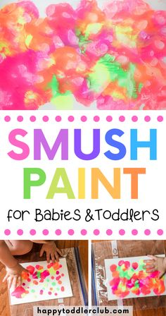 No Mess Smush Painting for Toddlers Does the idea of painting with your toddler sound terrifying? Then you'll love this beautiful no-mess smush painting project! Toddler Arts And Crafts, Toddler Art Projects, Baby Crafts, Easy Toddler Crafts 2 Year Olds, Simple Art Projects, Toddler Painting Ideas, Crafts For Babies, Toddler Painting Activities, Painting Crafts For Kids