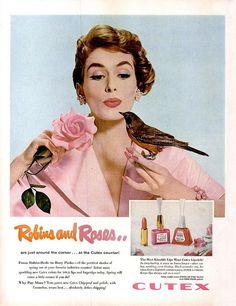 Vintage Cutex advert: Robins & Roses.