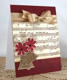 This would be a beautiful birthday card for anyone who loves music.. gotta find some old sheet music so I can try it.