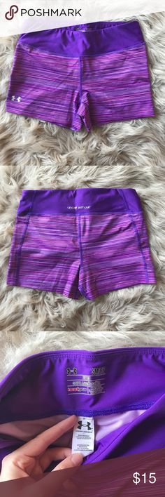 Under Armour Compression/Spandex Shorts These Under Armour spandex shorts have only been worn once and are in excellent condition! They are super comfy and easy to move in. -- Comes from a clean and smoke free home! Under Armour Shorts