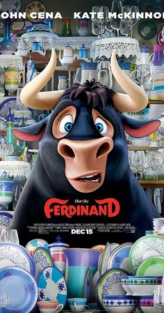 New Poster for Animated-Comedy 'Ferdinand' - Starring John Cena Kate McKinnon David Tennant Bobby Cannavale Daveed Diggs and Gina Rodriguez Ferdinand Movie, The Story Of Ferdinand, Ferdinand The Bulls, Films Hd, Hd Movies, Movies To Watch, Movies Online, 2017 Movies, Film 2017