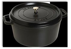 Round Cocotte (Black) Variety of Colours & Sizes