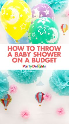 Read our top tips to find out how to throw a baby shower on a budget. From cheap baby shower decorations to free printable baby shower games, we've got everything you need to throw a lovely budget-friendly baby shower!