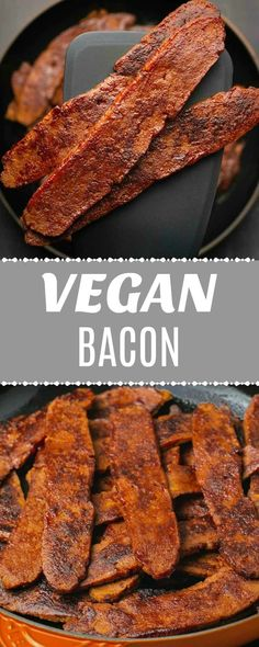 Five Approaches To Economize Transforming Your Kitchen Area This Vegan Bacon Is Smoky And Deliciously Textured And Made From Seitan It's Crispy, Chewy, Salty And Sweet And Packs A Serious Protein Punch Too Vegan Dinner Recipes, Vegan Breakfast Recipes, Delicious Vegan Recipes, Brunch Recipes, Vegetarian Recipes, Healthy Recipes, Healthy Lunches, Detox Recipes, Vegan Foods