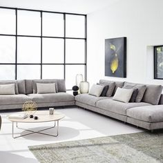 Shop the Axel XL Sofa and more contemporary furniture designs by Montis at Haute Living Beige Sectional, Modern Sectional, Sectional Sofa, Living Room Seating, New Living Room, Living Room Decor, Xl Sofa, Ikea Sofa, Canape D Angle Design